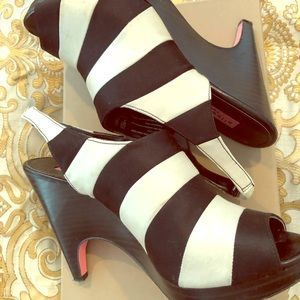 Alice and Olivia for Payless satin heeled sandals!